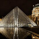 The Louvre Pyramid at night by Colin White