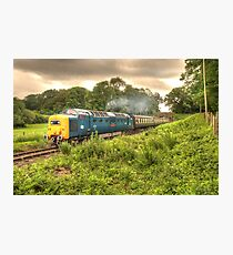 Deltic in Somerset Photographic Print