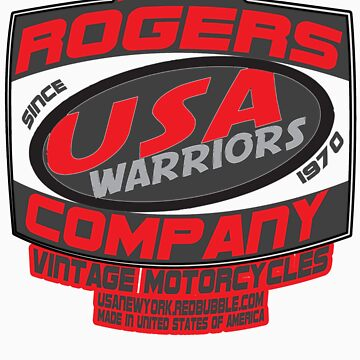 usa warriors motorcycle by rogers bros by usawashington
