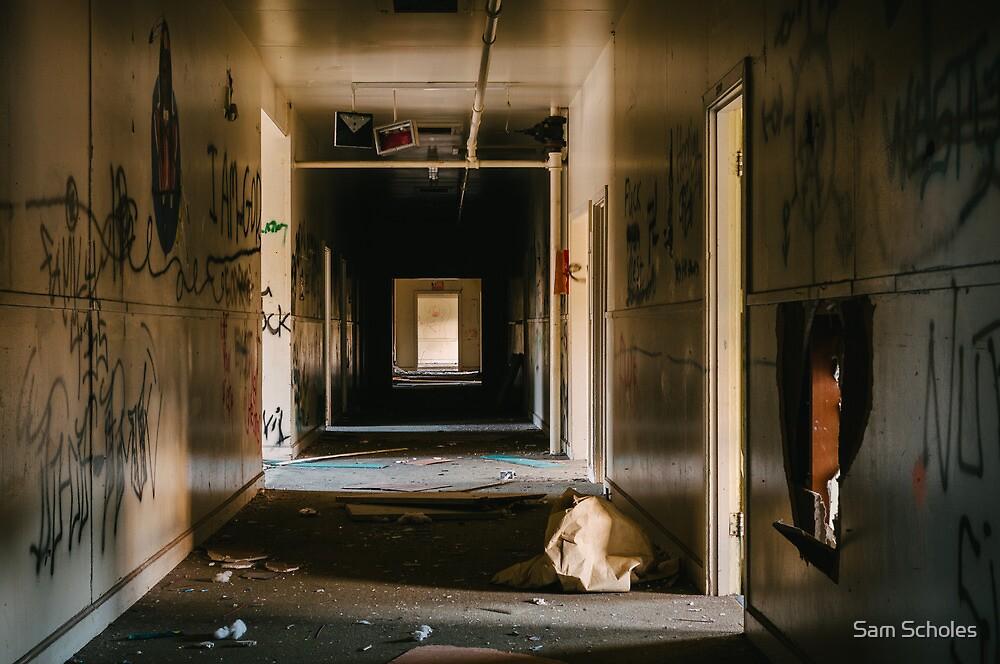 Abandoned Hallway by Sam Scholes