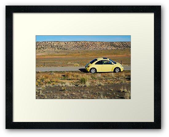 Yellow Volkswagen New Beetle by Sam Scholes