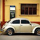 Gold Volkswagen Retro Beetle by Sam Scholes