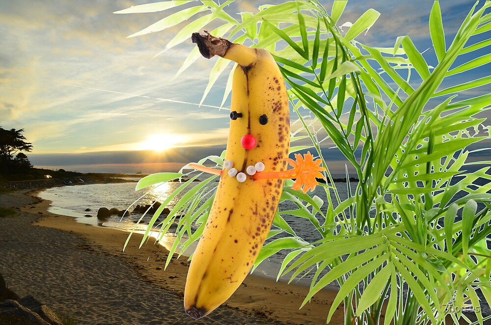 Funny banana in the sun by 7horses