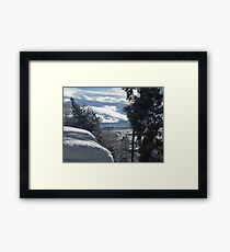 knee deep in white stuff Framed Print
