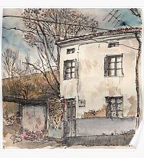 House in Guardo in Winter Poster