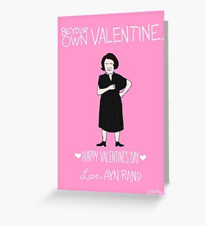 Ayn Rand Greeting Card