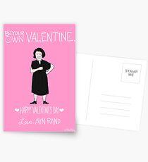 Ayn Rand Postkarten