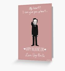 Edgar Allan Poe Greeting Card