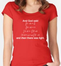 And God Said (Maxwell's equations) Women's Fitted Scoop T-Shirt
