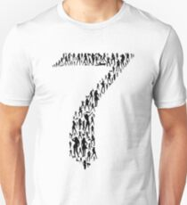7th Heaven - Black Unisex T-Shirt