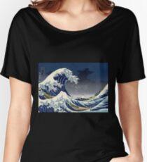Great Wave: Kanagawa Night Women's Relaxed Fit T-Shirt