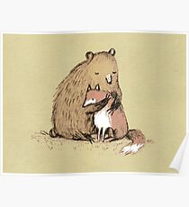 Grizzly Hugs Poster
