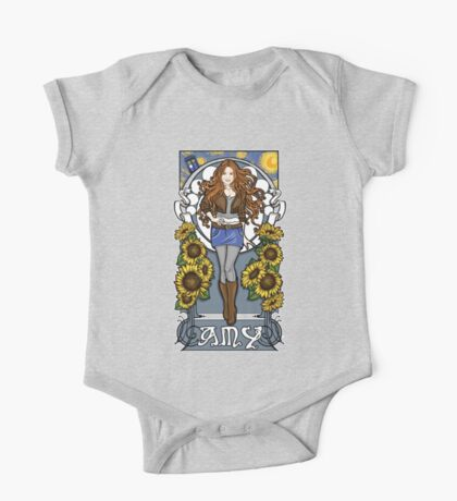 The Girl Who Waited (Amy on faded blue) Kids Clothes