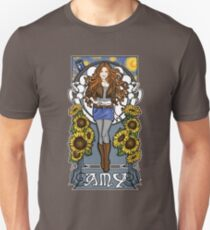 The Girl Who Waited (Amy on faded blue) Unisex T-Shirt