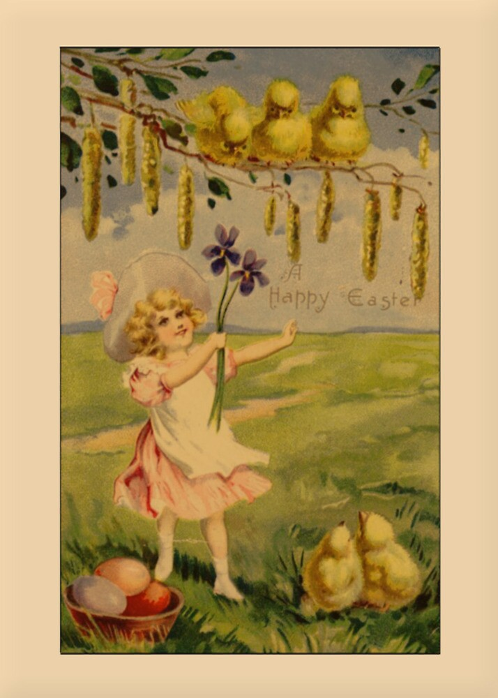Vintage Happy Easter Greetings by Yesteryears