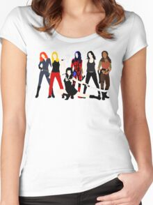 Women of the Whedonverse   Women's Fitted Scoop T-Shirt