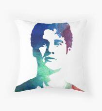 rainbow headshot Throw Pillow