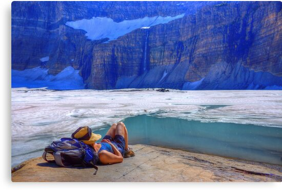 On Glacial Time - Grinnell Glacier by James Anderson