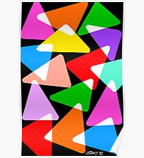 15 COLORFUL TRIANGLES UPDATE Poster
