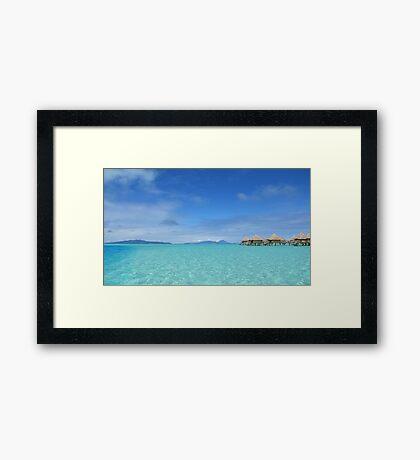 Blue Paradise Framed Print