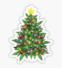 Marijuana Christmas Tree Sticker