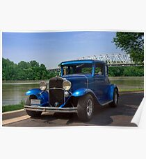 1929 Chevrolet Coupe Hot Rod Poster