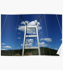 Bridge above Clearwater River, Idaho Poster