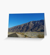 Highway and mountains, Death Valley Greeting Card