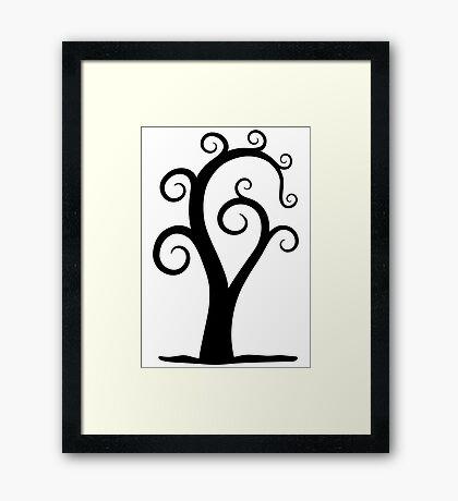 Nautilus Shell Tree Framed Print