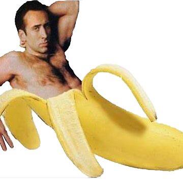 Nicolas-Käfig in einer Banane - ursprüngliches Gelb von tomohawk64