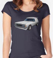 Illustrated HZ Holden Panel Van - White Women's Fitted Scoop T-Shirt