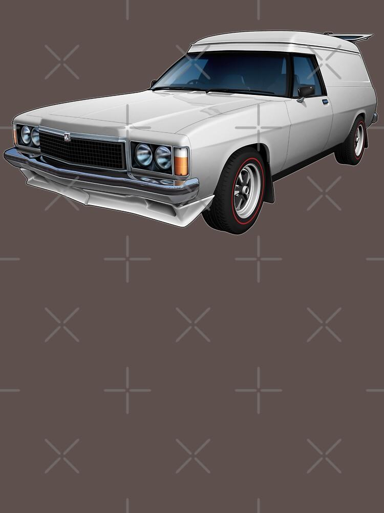 Illustrated HZ Holden Panel Van - White by tshirtgarage