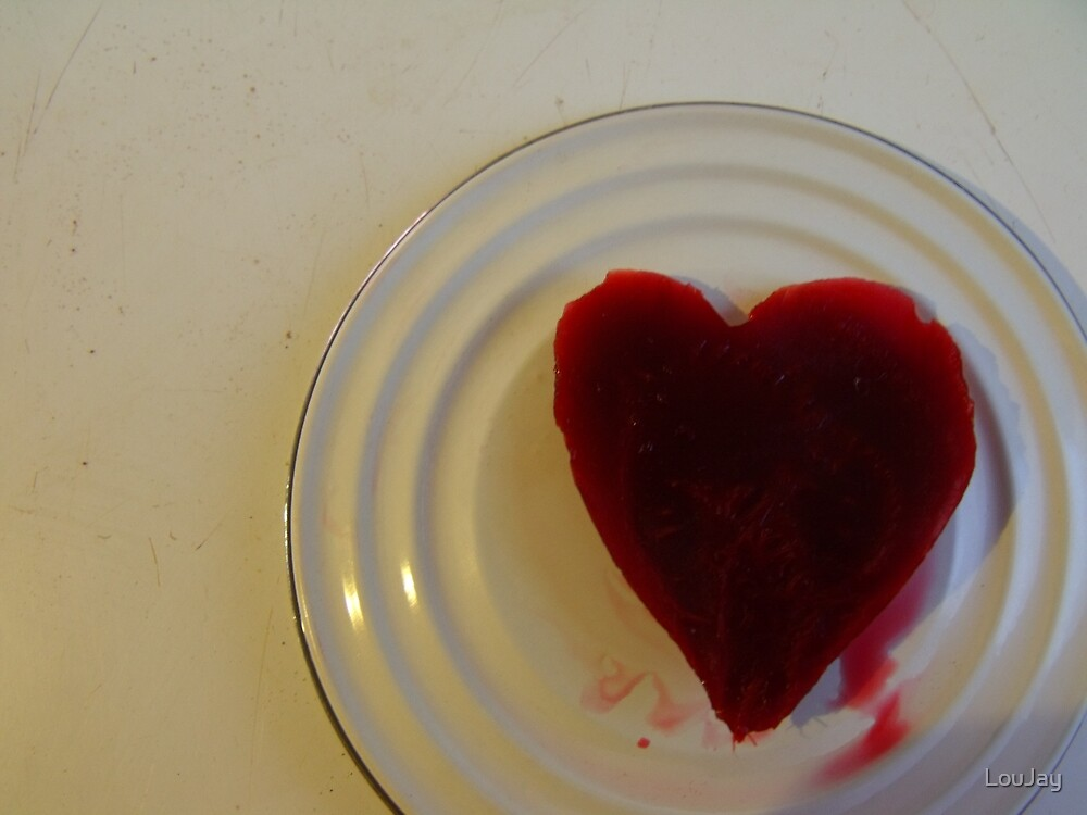 Love and good wishes to all, from the very bottom of my beetroot tin by LouJay