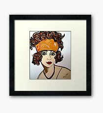 1920 STYLE WOMAN WITH BANDANA Framed Print