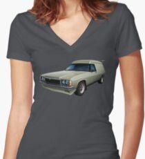 Illustrated HZ Holden Panel Van - Chamois Women's Fitted V-Neck T-Shirt