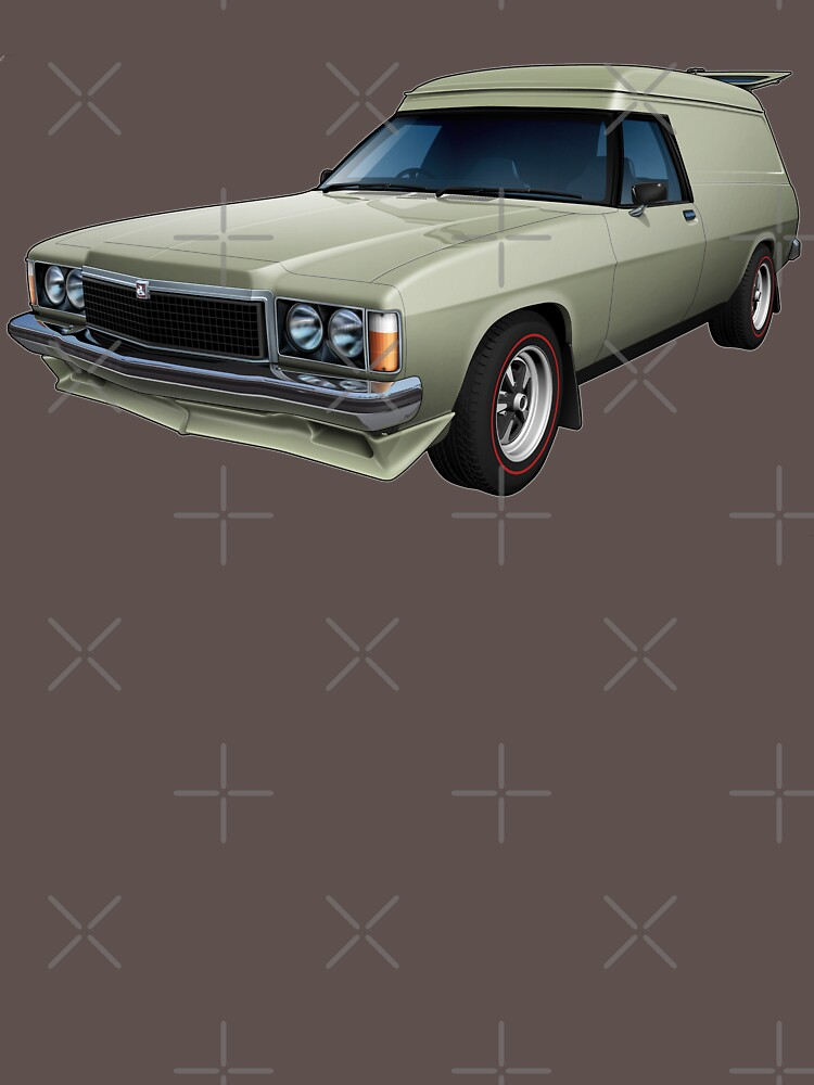Illustrated HZ Holden Panel Van - Chamois by tshirtgarage