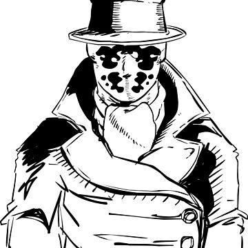 Rorschach from Watchmen Original Art by mikewirth