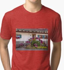 House and Flowers Tri-blend T-Shirt