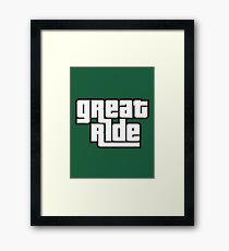great ride Framed Print