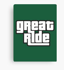 great ride Canvas Print