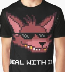 Five Nights at Freddy's - FNAF - Foxy - Deal With It (White Font) Graphic T-Shirt