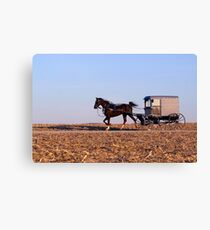Amish Commute Canvas Print