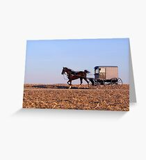 Amish Commute Greeting Card