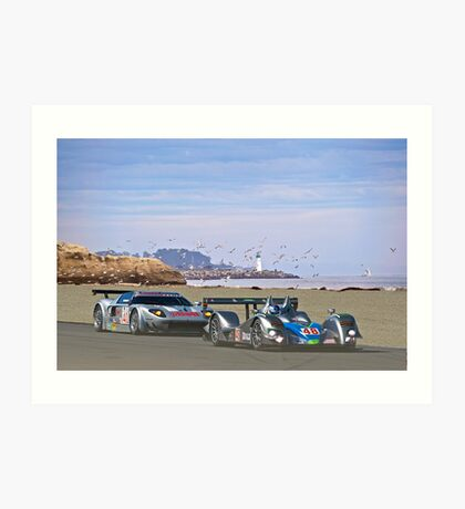 Racing on the West Coast Art Print