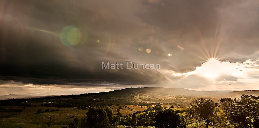 Shelf Cloud Sunset by Matt Duncan
