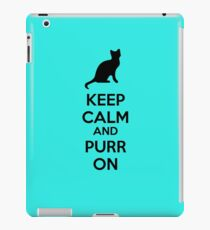Keep calm and purr on iPad Case/Skin