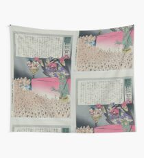 Humorous picture showing Chinese religious practices  Raijin the Japanese God of Thunder ranting to a crowd of Chinese Buddhist worshippers 002 Wall Tapestry