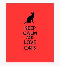 Keep calm and love cats Photographic Print