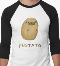 Pugtato Men's Baseball ¾ T-Shirt