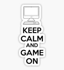 Keep calm and game on Sticker